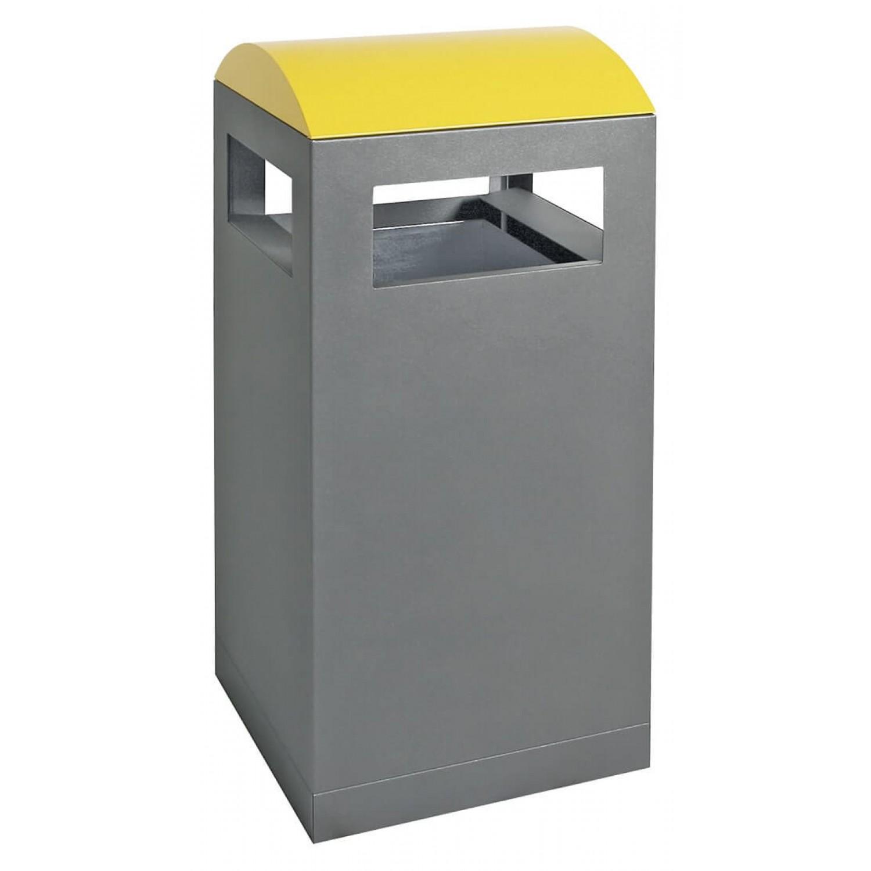 90 L, für Außenbereiche, anthrazit/gelb