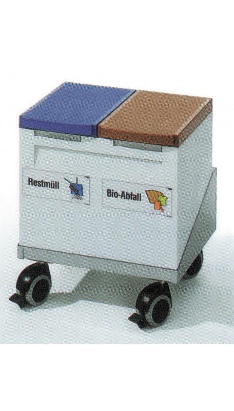 Sammelbox 2 x 15 Liter fahrbar